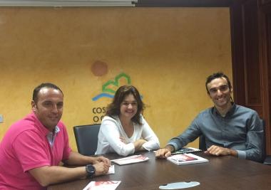 """Margarita del Cid y Luis Ángel Maté mantienen una reunión sobre el proyecto de la Mancomunidad """"Bicyclesleep"""""""