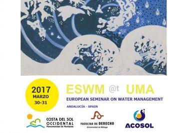 Acosol y la Universidad de Málaga organizan juntos un Seminario Europeo de Gestión del Agua