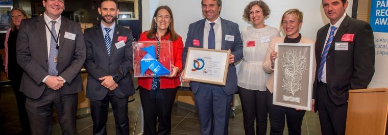 """La Mancomunidad, en los """"European Paper Recycling Award"""" por sus resultados en reciclaje de papel"""