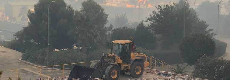La Planta de Tratamiento de RSU resiste el incendio forestal de Casares y trabaja con normalidad