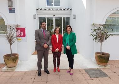 Visita institucional de la delegada del Gobierno de la Junta de Andalucía en Málaga